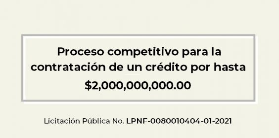 Licitación Pública No. LPNF-0080010404-01-2021