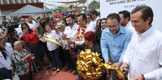 -Inaugura SIOP Obra en el municipio de Pueblo Viejo