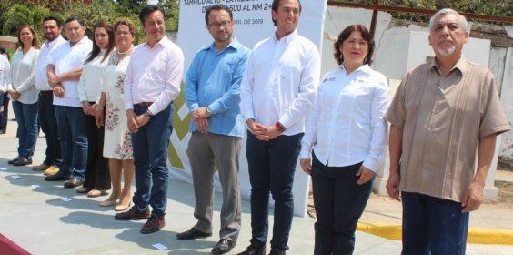 -Inaugura SIOP Obra en el municipio de Tampico Alto