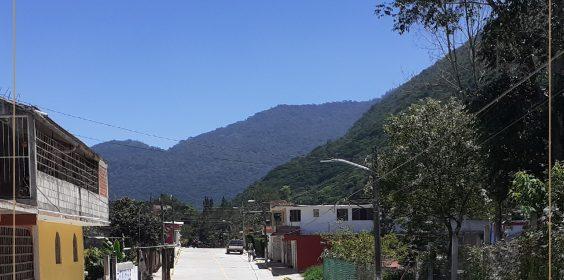 Recorrido de la construcción de pavimento hidráulico de la calle Nicolás Bravo,  en la localidad de Nogales, municipio de Nogales.
