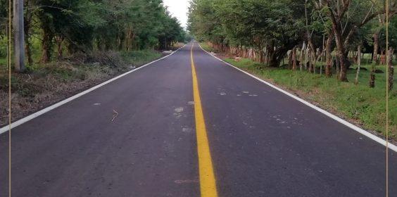 Mantenimiento del camino Pajapan – Los Cerritos, en el municipio de Pajapan