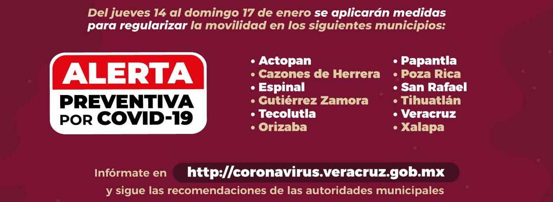 ALERTA PREVENTIVA POR COVID-19