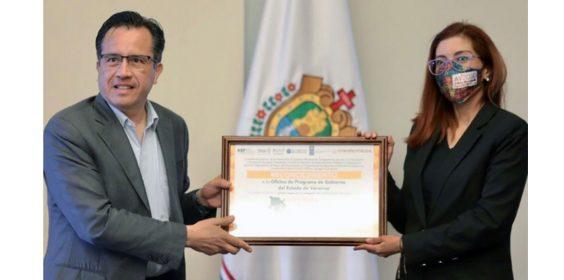 Instituto Nacional de Transparencia, Acceso a la Información y Protección de Datos Personales (INAI) premia a la Oficina de Gobierno