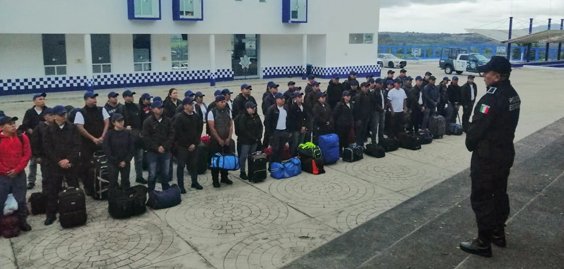 Ingresan al CEIS 73 aspirantes a policías municipales en Xalapa