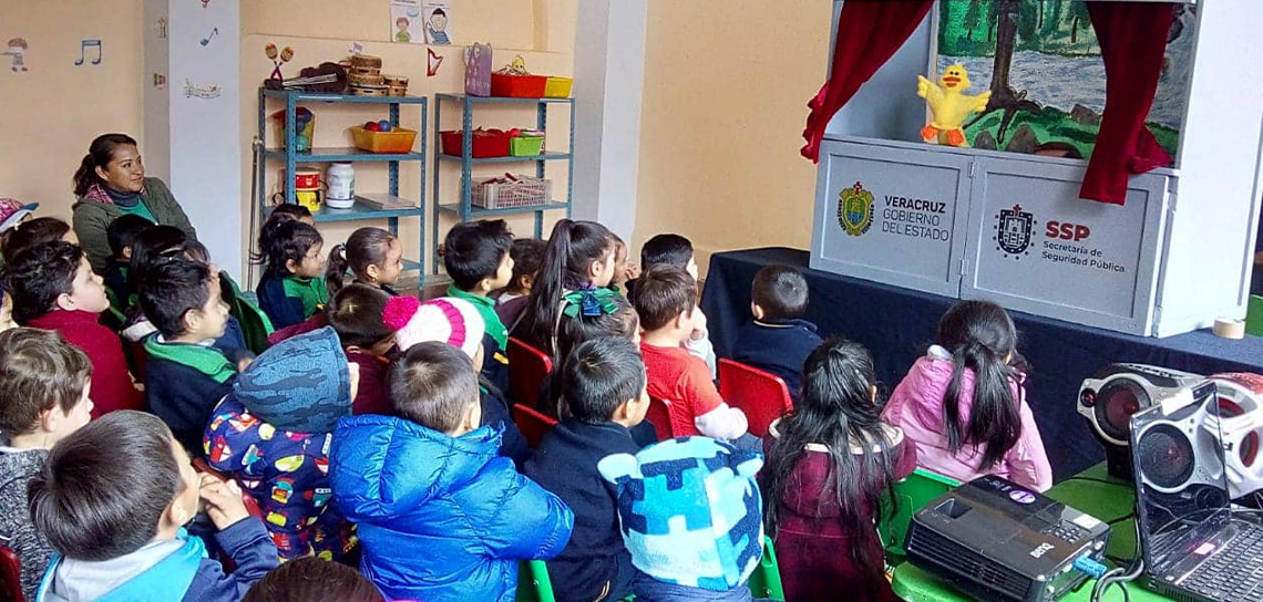 Imparte DGPRS dinámicas de prevención del delito a niños y niñas de preescola
