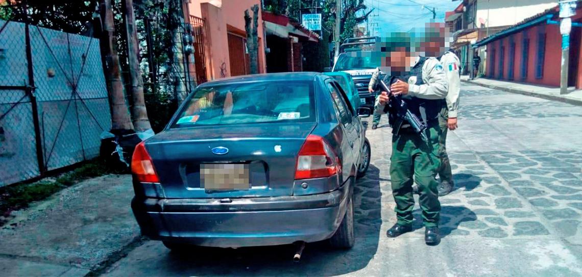 Asegura Fuerza Civil vehículo relacionado con intento de robo