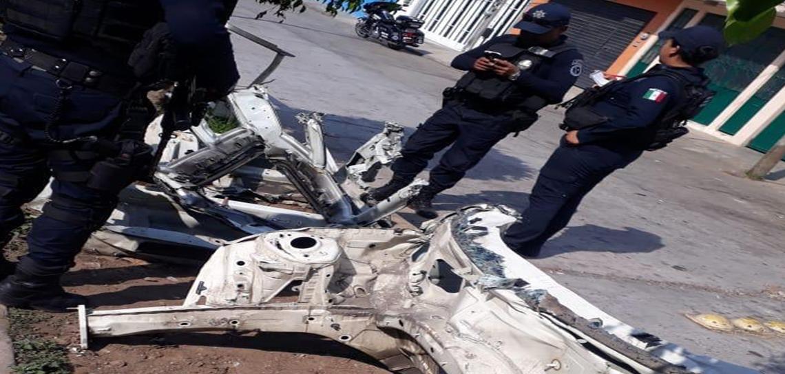 Detiene SSP a vendedor de autopartes robadas, en Xalapa
