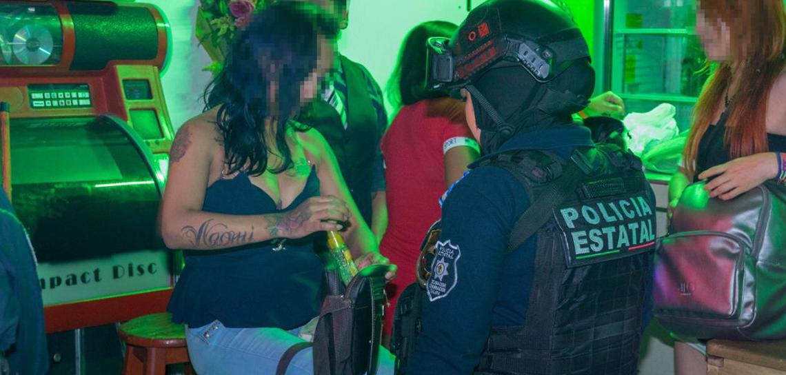 Continúa Operativo de Seguridad en Bares y Cantinas de Xalapa