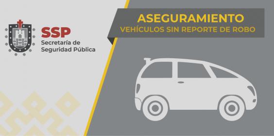 En distintos municipios, recupera Seguridad Pública 13 vehículos robados.