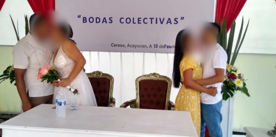 Celebran 27 bodas colectivas en Centros de Reinserción Social de Veracruz.