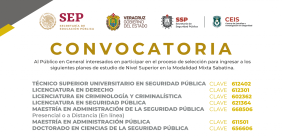 Convocatoria Planes de Estudio Nivel Superior Modalidad Mixta