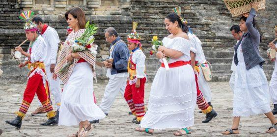 Participa SECTUR en ceremonia de agradecimiento de la cultura Totonaca