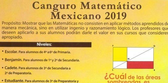Invita SEV al Examen del Canguro Matemático Mexicano 2019