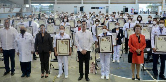 Otorga Gobierno la Medalla Veracruz a personal de la administración estatal que ha luchado contra el coronavirus